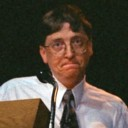 Bill Gates looking angry