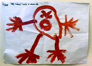 Child's drawing of a monster