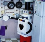 The earliest bossy mechanical devices were the daleks, although their advice was often quite hateful and repetitive. And they required live aliens inside to do the voice synthesis. And they were useless at washing dishes.