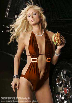 Paris Hilton in her prison-range swimsuit