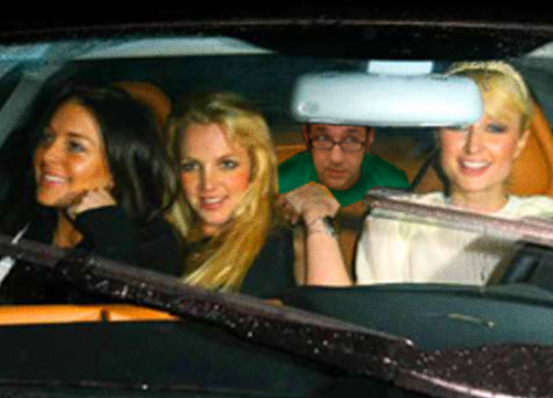 drivingwithparis2 Hitchhiking with Lohan, Spears and Hilton
